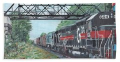 Last Train Under The Bridge Hand Towel