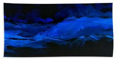 Bath Towel featuring the painting Late Night High Tide by Linda Bailey