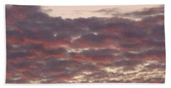 Late Summer Evening Sky Hand Towel