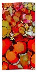 Late Summer Flowers Hand Towel