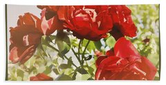 Late Summer Roses - Dreamy Bath Towel by Maria Janicki