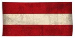 Latvia Flag Vintage Distressed Finish Bath Towel
