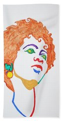 Hand Towel featuring the painting Lauryn Hill  by Stormm Bradshaw