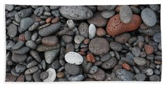 Lava Beach Rocks Bath Towel