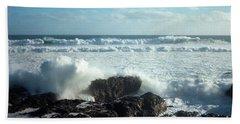 Hand Towel featuring the photograph Lava Beach Rocks On 90 Mile Beach by Mark Dodd