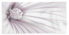 Lavatera Flower Stamen Macro  Hand Towel