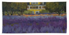 Lavender Farm On Vashon Island Hand Towel by Diane McClary