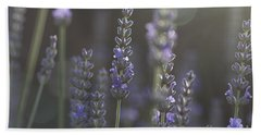 Hand Towel featuring the photograph Lavender Flare. by Clare Bambers