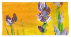 Bath Towel featuring the painting Lavender - Hanging Position 3 by Val Miller