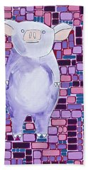 Lavender Piglet Bath Towel