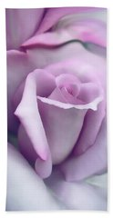 Lavender Rose Flower Portrait Bath Towel