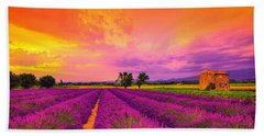 Lavender Sunset Bath Towel