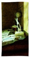Bath Towel featuring the photograph Lawyer - Desk With Quills And Papers by Susan Savad