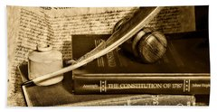 Lawyer - The Constitutional Lawyer In Black And White Bath Towel