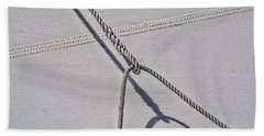 Bath Towel featuring the photograph Lazy Jack-shadow And Sail by Marty Saccone