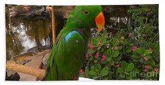Le Parrot Bath Towel by Chris Tarpening