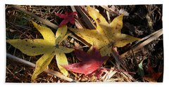 Leaf Collage Bath Towel by Karen Harrison