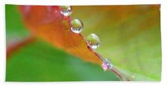 Leaf Pearls Bath Towel by Patti Whitten