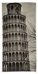 Bath Towel featuring the photograph Leaning Tower by Miguel Winterpacht