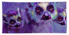 Leaping Lemurs Hand Towel