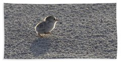 Least Tern Chick Hand Towel by Meg Rousher