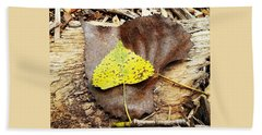 Leaves Bath Towel by Inspired Arts