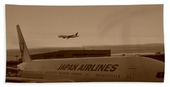 Leaving Japan Hand Towel