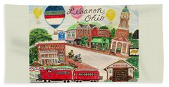 Lebanon Ohio Bath Towel by Diane Pape