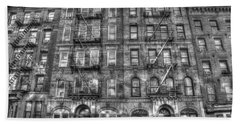 Led Zeppelin Physical Graffiti Building In Black And White Bath Towel