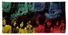 Led Zeppelin Pop Art Collage Hand Towel by Dan Sproul