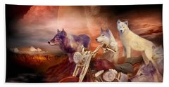 Legend Of Wolf Mountain Bath Towel