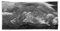 101366-lenticular Cloudcap Over Mt. Mckinley Hand Towel