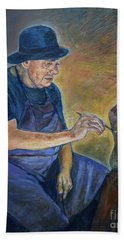 Figurative Painting Hand Towel