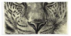 Leopard Hand Towel by Heidi Kriel