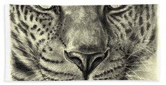 Leopard Bath Towel by Heidi Kriel