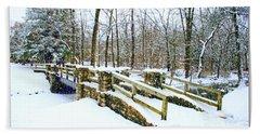 Let It Snow Let It Snow Bath Towel by Kay Novy
