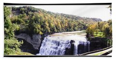 Bath Towel featuring the photograph Letchworth State Park Middle Falls Panorama by Rose Santuci-Sofranko