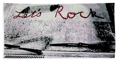 Bath Towel featuring the painting Lets Rock by Luis Ludzska