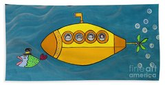 Lets Sing The Chorus Now - The Beatles Yellow Submarine Hand Towel
