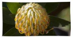 Leucospermum  -   Yellow Pincushion Protea Bath Towel