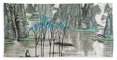 Bath Towel featuring the photograph Li River In Spring by Yufeng Wang