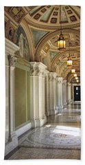 Library Of Congress Hallway Washington Dc Hand Towel by Mary Lee Dereske