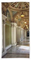 Library Of Congress Hallway Washington Dc Bath Towel by Mary Lee Dereske