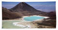 Licancabur Volcano And Laguna Verde Hand Towel