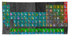 License Plate Art Recycled Periodic Table Of The Elements By Design Turnpike Hand Towel