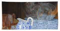 Hand Towel featuring the painting Life Is A Carnival Glass by Lynne Reichhart