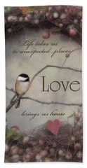 Life Love Home Bath Towel