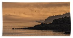Bath Towel featuring the photograph Lifting Fog At Sunrise On Campobello Coastline by Marty Saccone