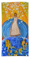 Hand Towel featuring the painting Lifting The Veil by Cassie Sears