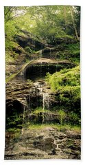 light flow at Cathedral Falls Hand Towel